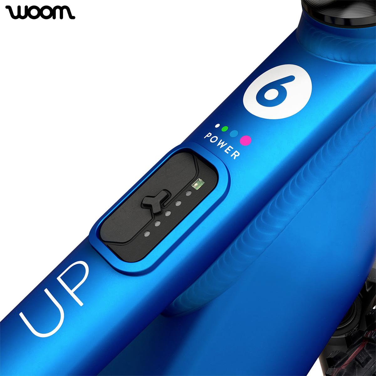 Dettaglio del pulsante posizionato sul tubo orizzontale per agire sulla drive unit Fazua e selezionare la modalità di supporto