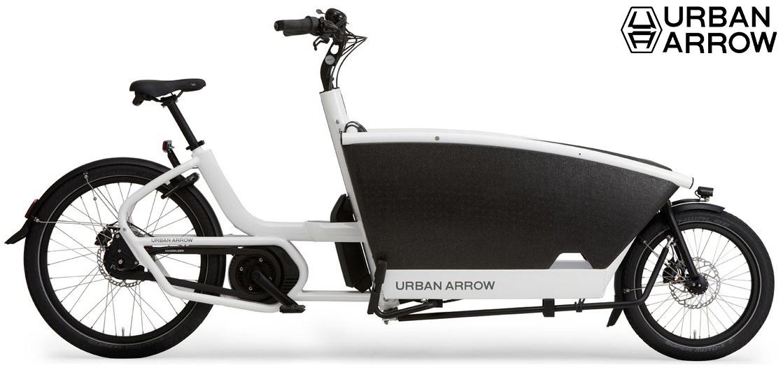 La Urban Arrow Family Cargo Line Disc Zee 500Wh in colorazione bianca