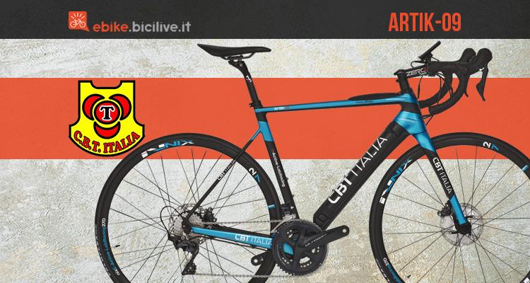 Presentazione della bici elettrica da corsa C.B.T Artik-09