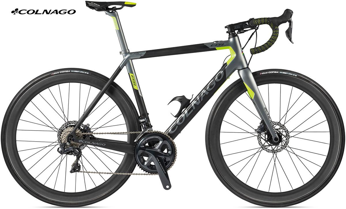 La bici completa Colnago E64 Ultegra Di2 in colorazione Anthracite-Green
