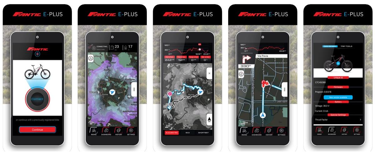 Schermate della App Fantic E-Plus