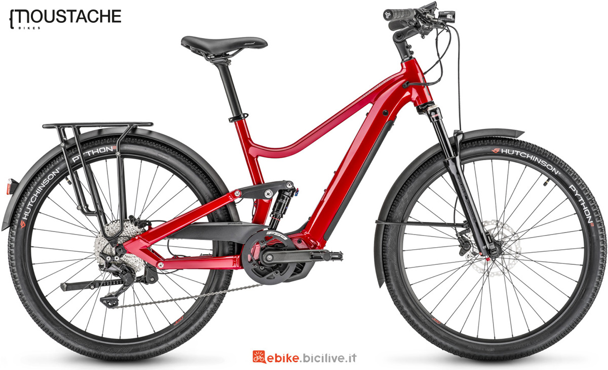La nuova bici elettrica da trekking Moustache 27 Xroad FS 5 della gamma 2021