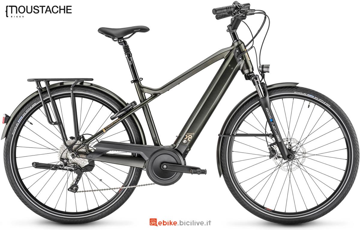 La nuova bici elettrica da trekking Moustache Samedi 28.7 della gamma 2021