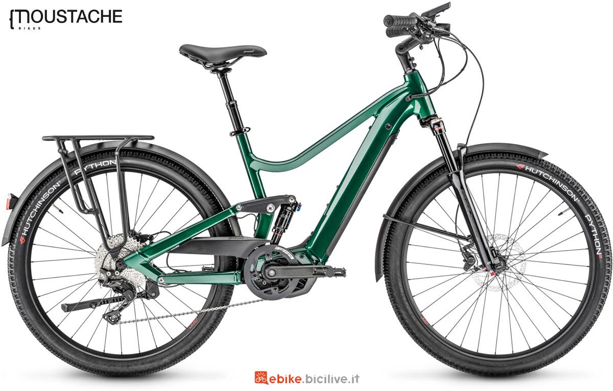 La nuova bici elettrica da trekking Moustache Samedi 27 Xroad FS 7 della gamma 2021