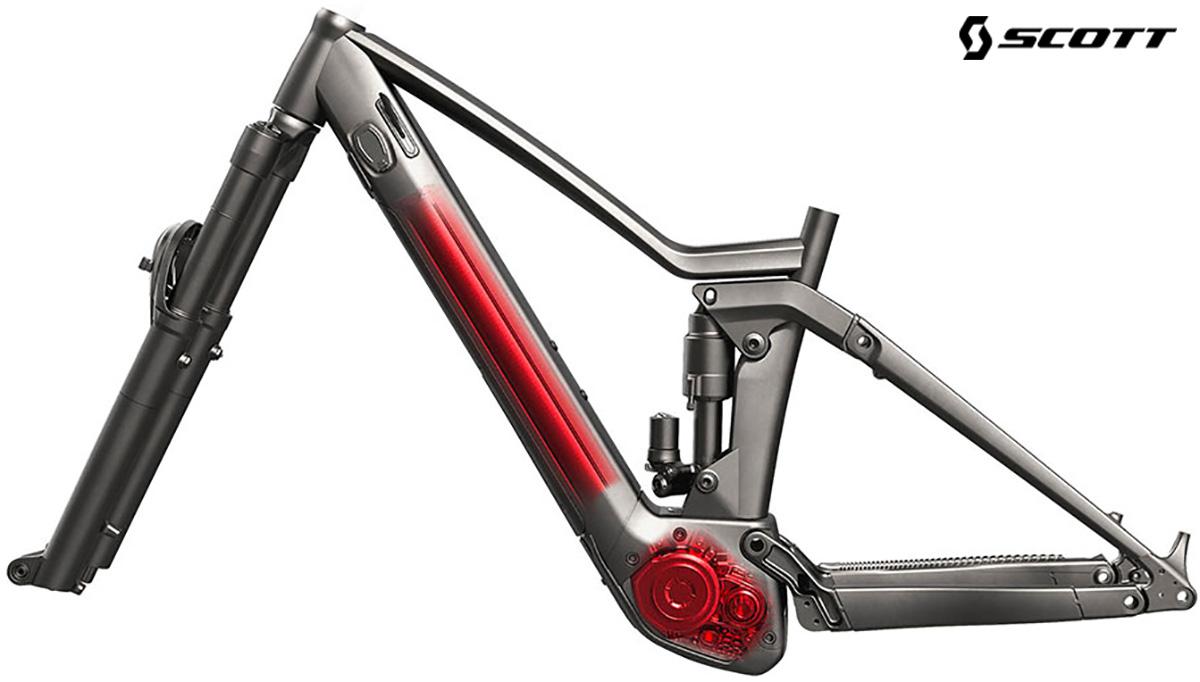 Il telaio delle nuove mountainbike elettriche Scott Ransom Eride 2021