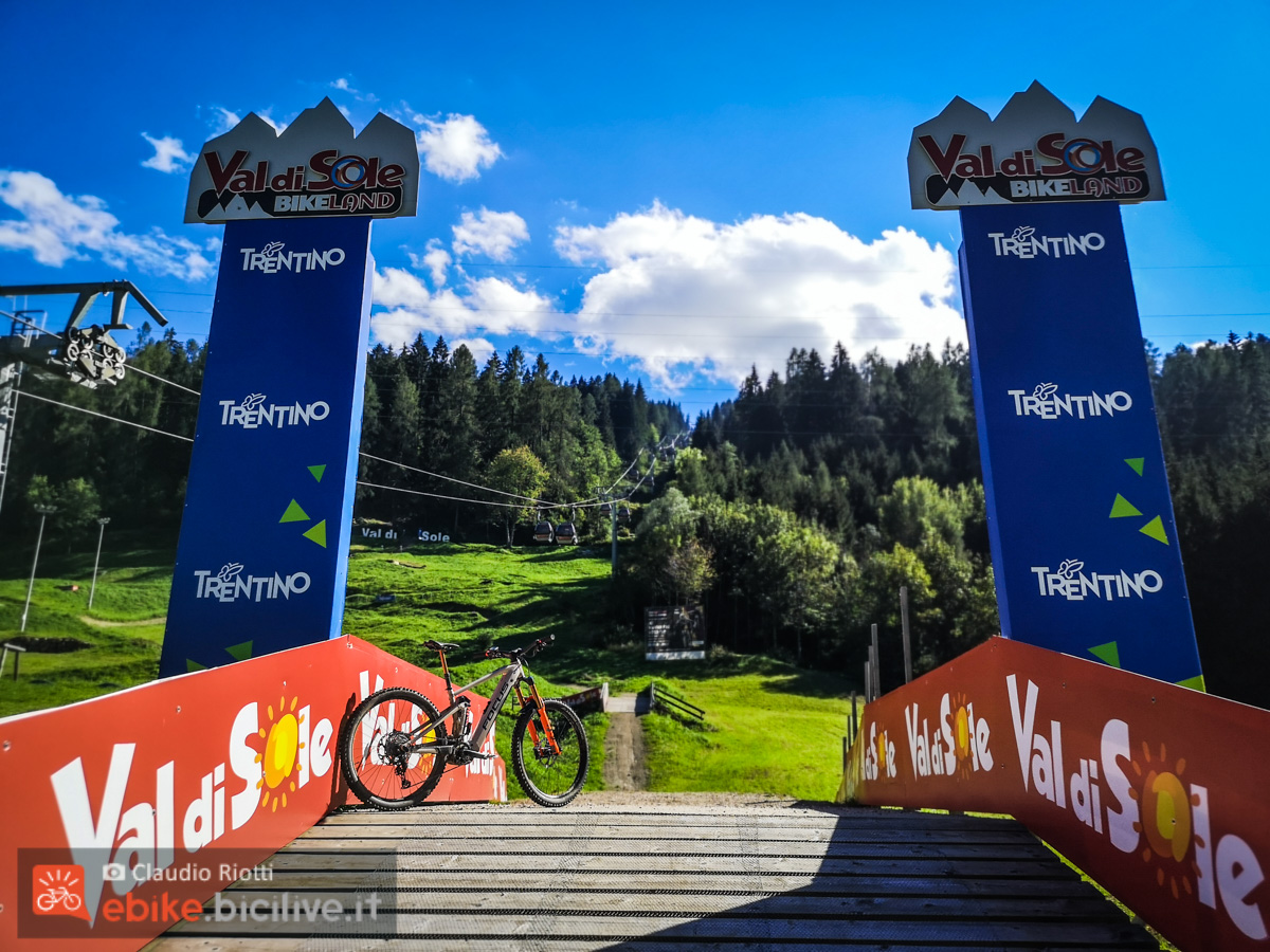 Foto del bike park Val di Sole.