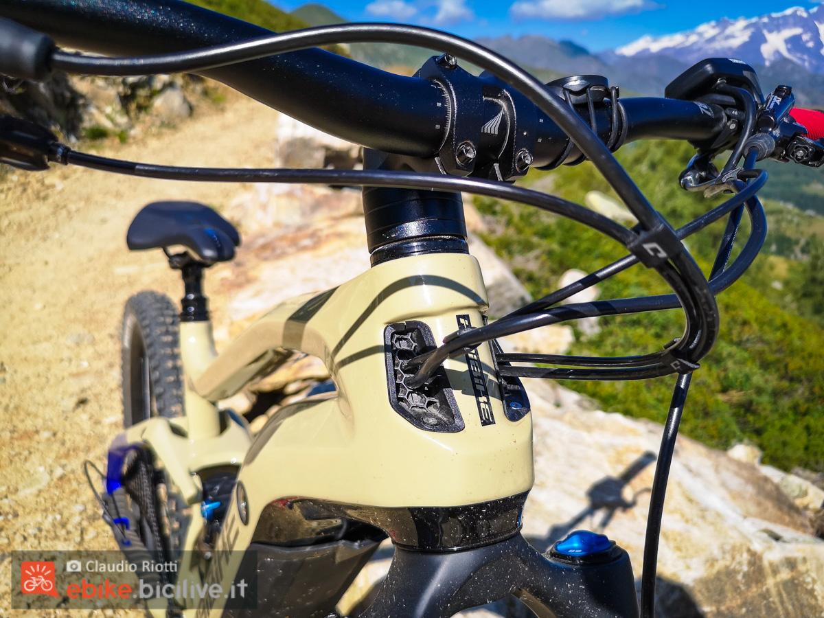 Foto del telaio della mountain bike elettrica Haibike Allmnt 7.