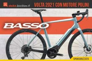 Basso Volta 2021: ebike da strada (e-Road) con motore Polini