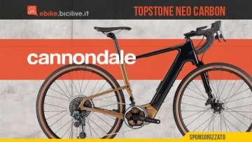 La nuova ebike da gravel Cannondale Topstone Neo Carbon 2021