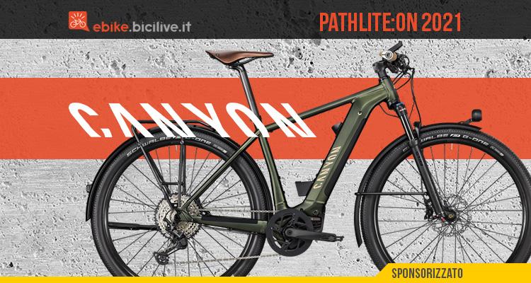La nuova bici elettrica per il trekking Canyon Pathlite:ON 2021