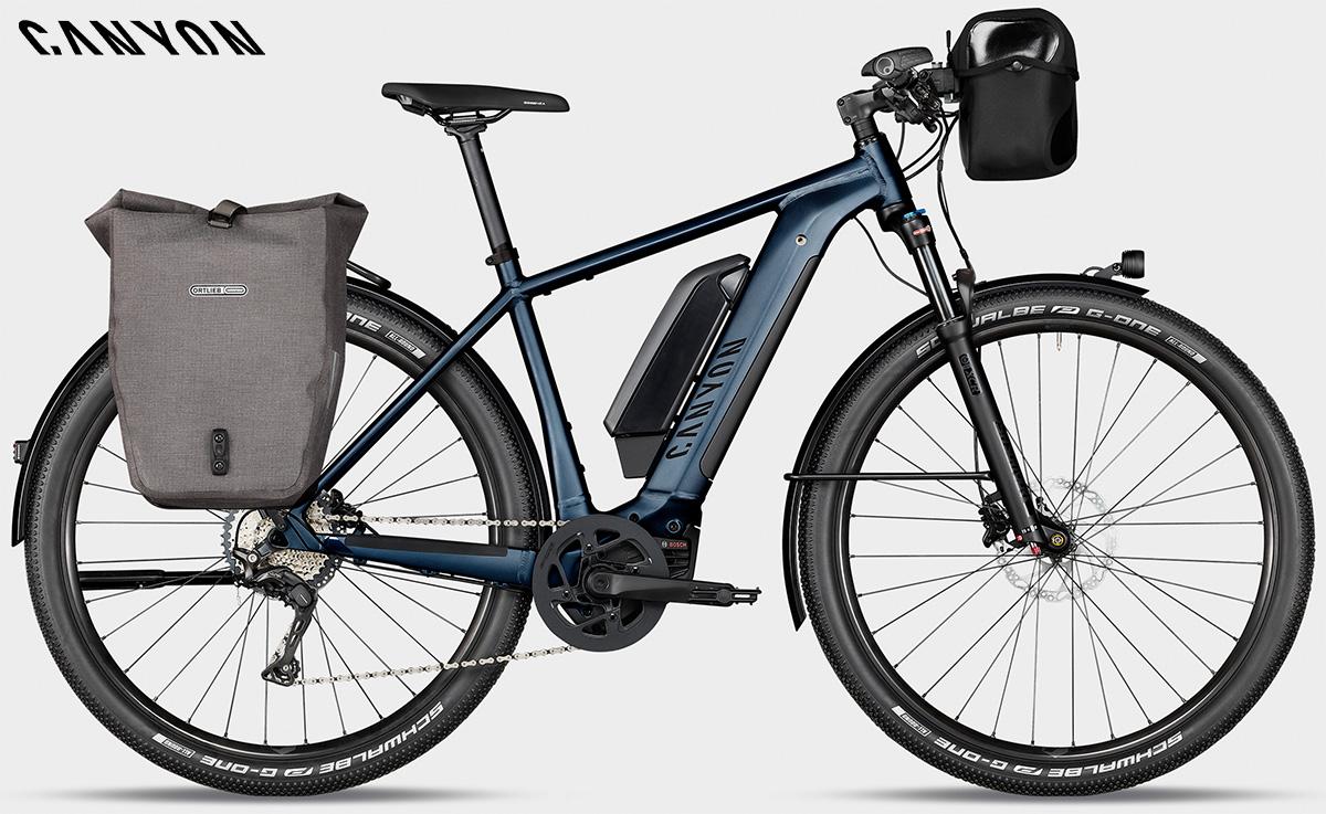 Una Canyon Pathlite:ON equipaggiata per viaggi di cicloturismo