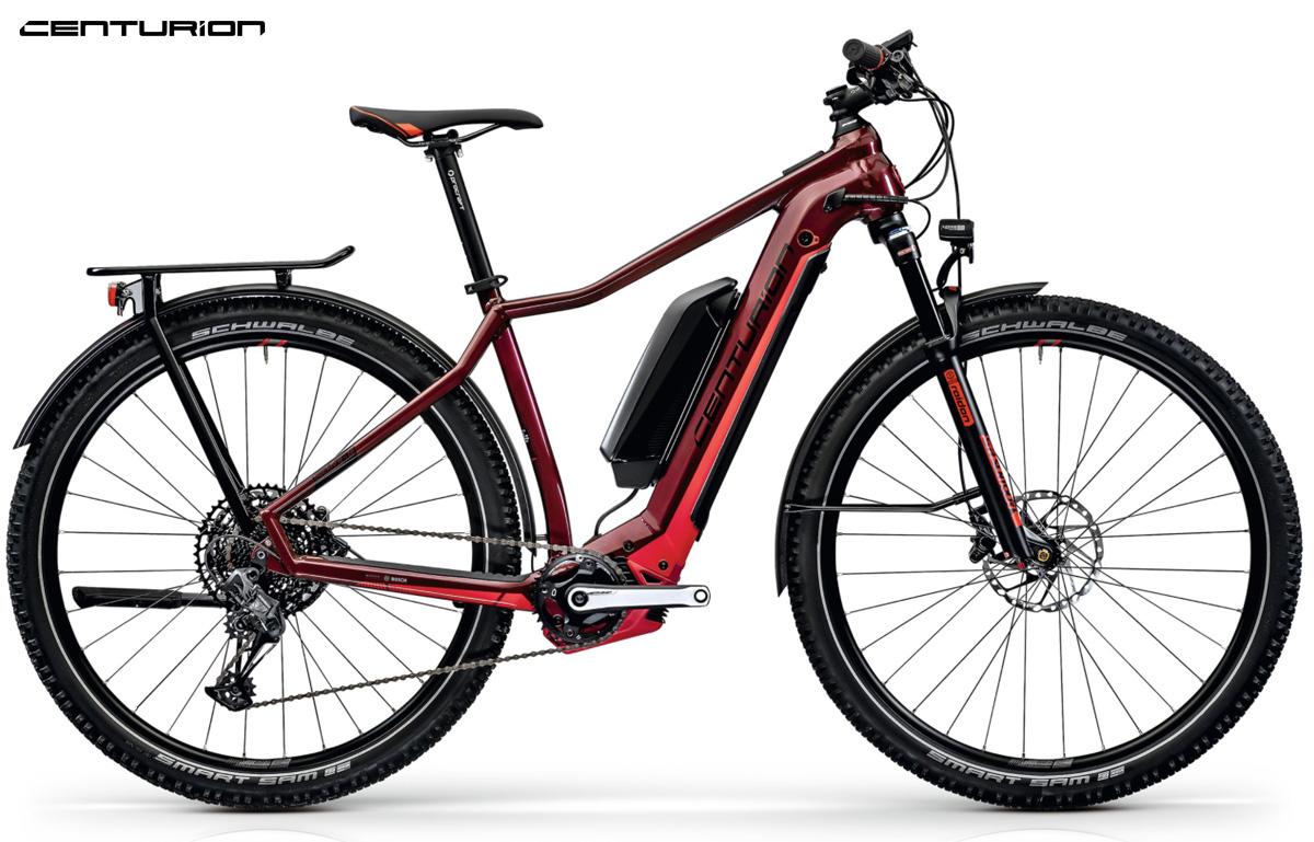 Una e-bike da trekking Centurion Backfire Fit E R811i DualBatt EQ 2021 in colorazione rossa