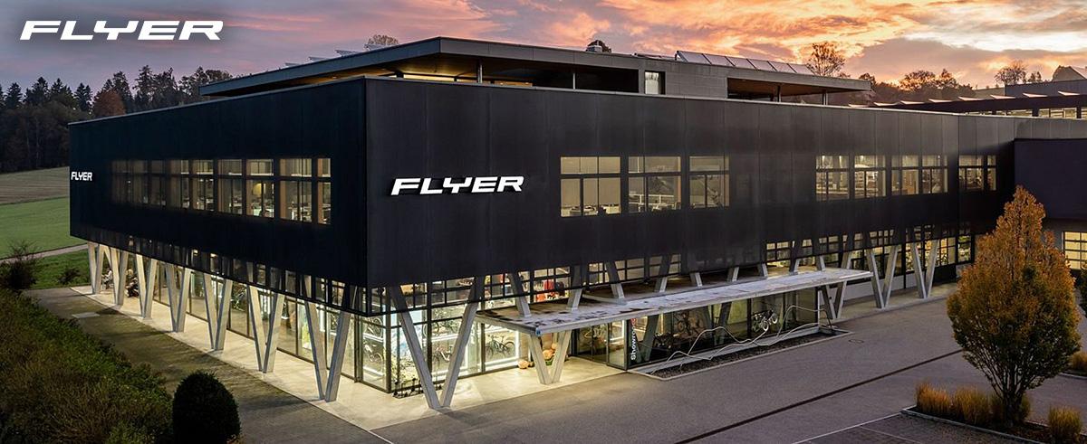 L'edificio della sede di Flyer Bikes