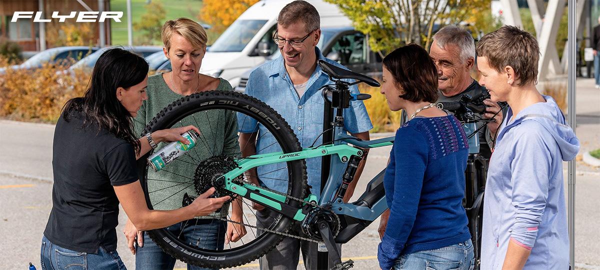 Il servizio di manutenzione di Flyer Bikes verso i suoi clienti
