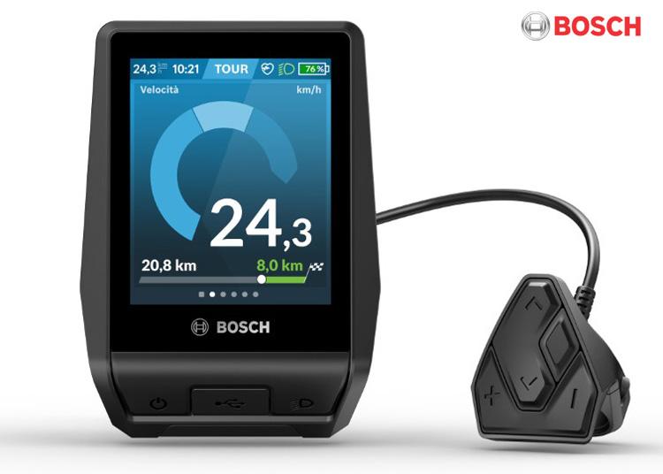 Il display Bosch Nyon montato su diversi modelli ebike Flyer 2021
