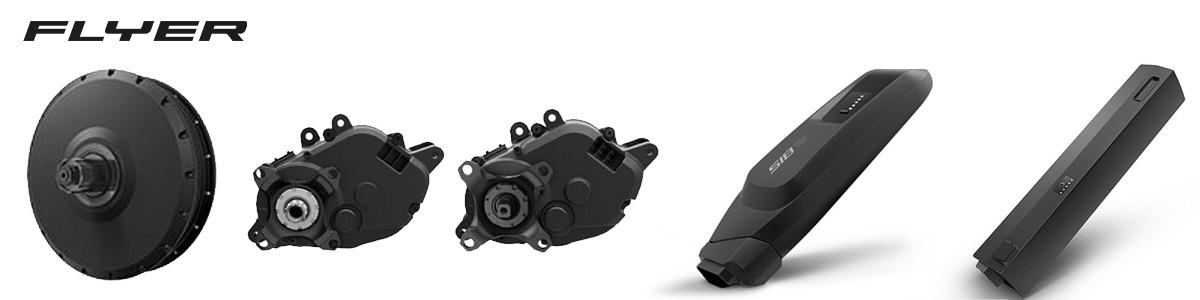 I motori e le batterie montati sulle ebike Flyer 2021
