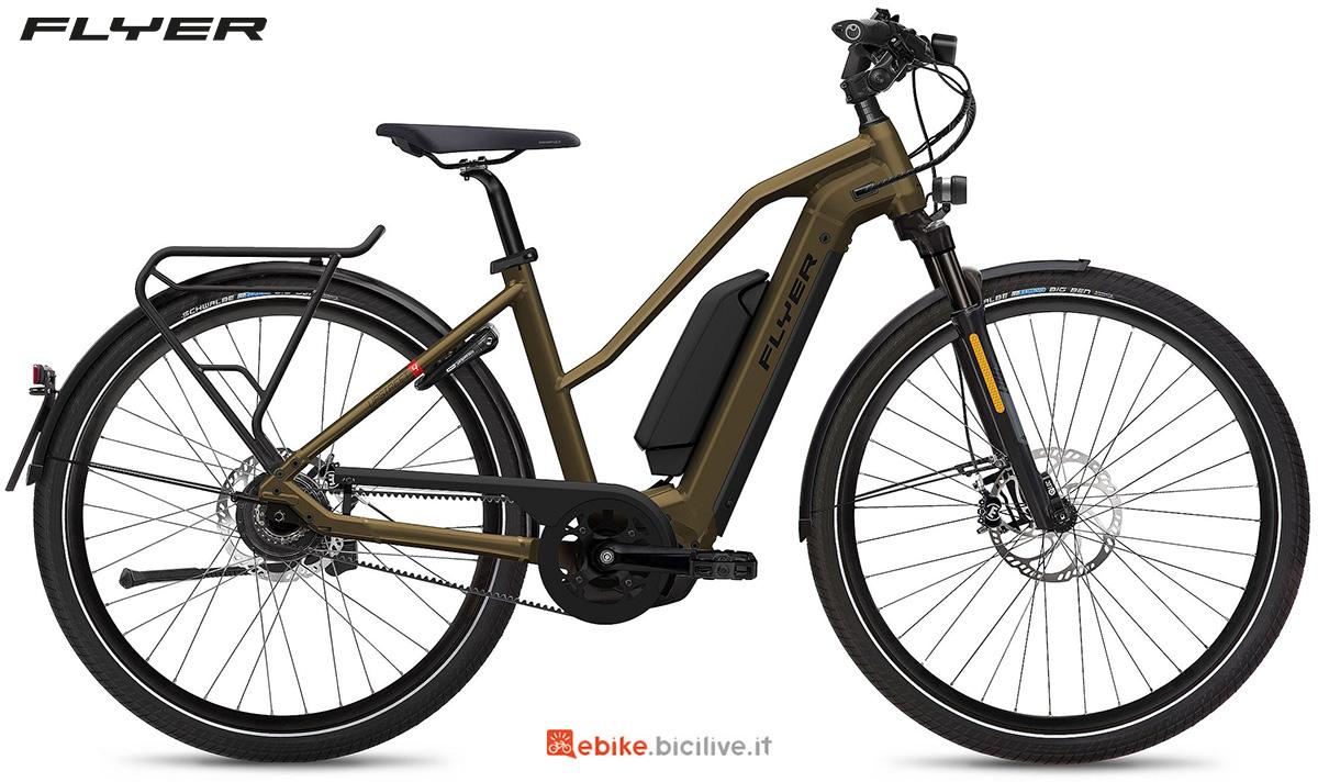 La nuova ebike da trekking Flyer Upstreet4 2021