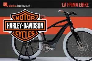 La prima ebike marchiata Harley Davidson