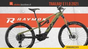 R Raymon Trailray E11.0 2021: nuova e-MTB mullet da enduro