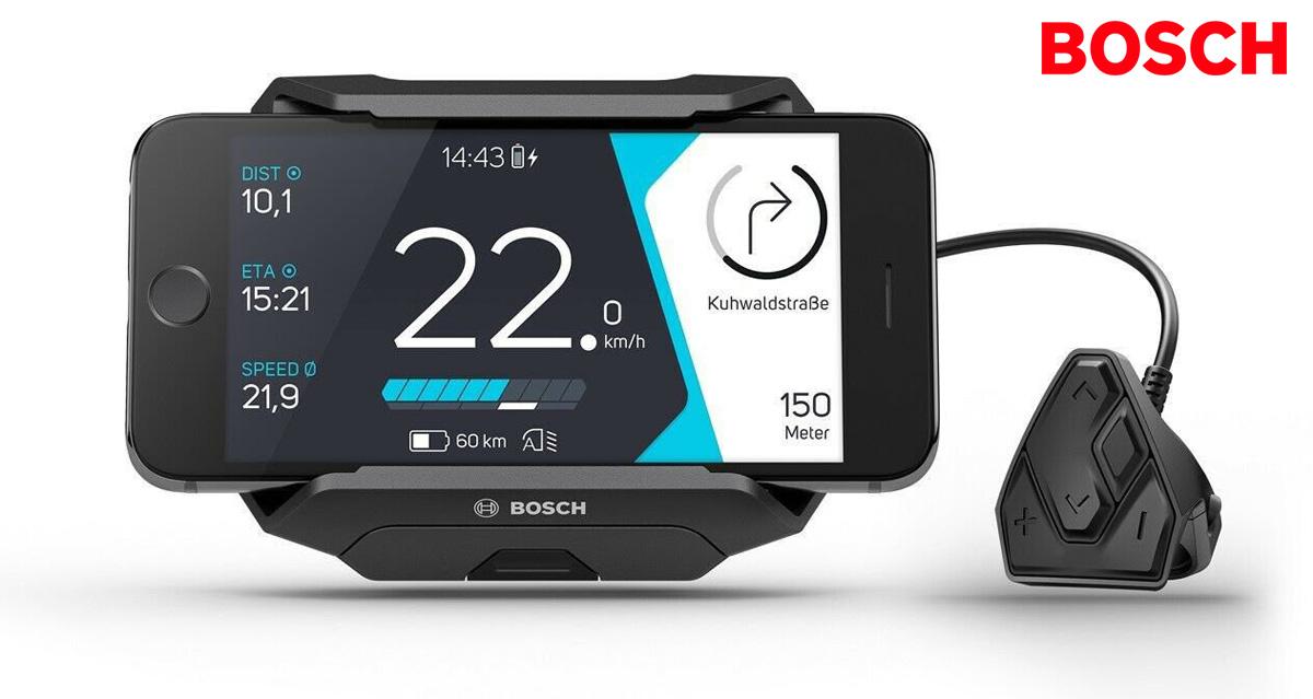 Un supporto smartphone Bosch SmartphoneHub per ebike