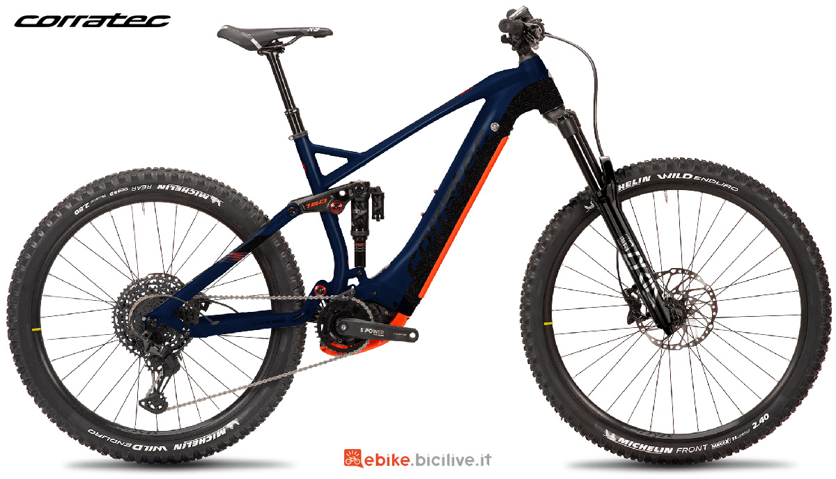 La nuova emtb Corratec E-Power RS 160 Factory 45 2021