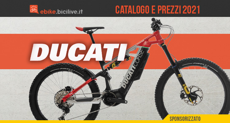 Ducati ebike 2021: il catalogo e il listino prezzi delle bici elettriche