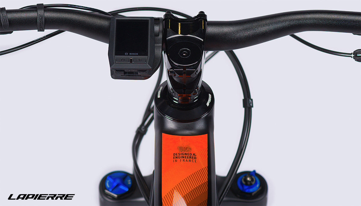 Il display montato sulle nuove mountain bike elettriche Lapierre Overvolt AM 2021