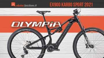 La nuova mtb elettrica Olympia EX900 Karbo Sport 2021