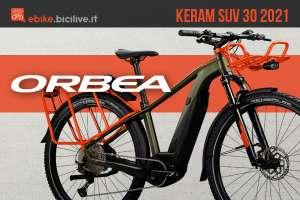 La nuova ebike per gli spostamenti urbani Orbea Keram SUV 30 2021