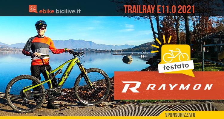 Foto di Claudio Riotti nel test della ebike R Raymon Trailray E11.0 2021