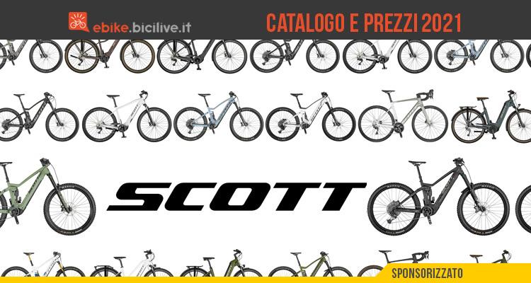 E-bike Scott 2021: il catalogo e il listino prezzi delle bici elettriche