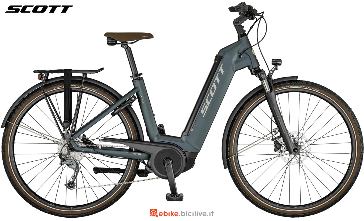 Una bicicletta a pedalata assistita Scott Sub Active eRide USX 2021 con telaio unisex