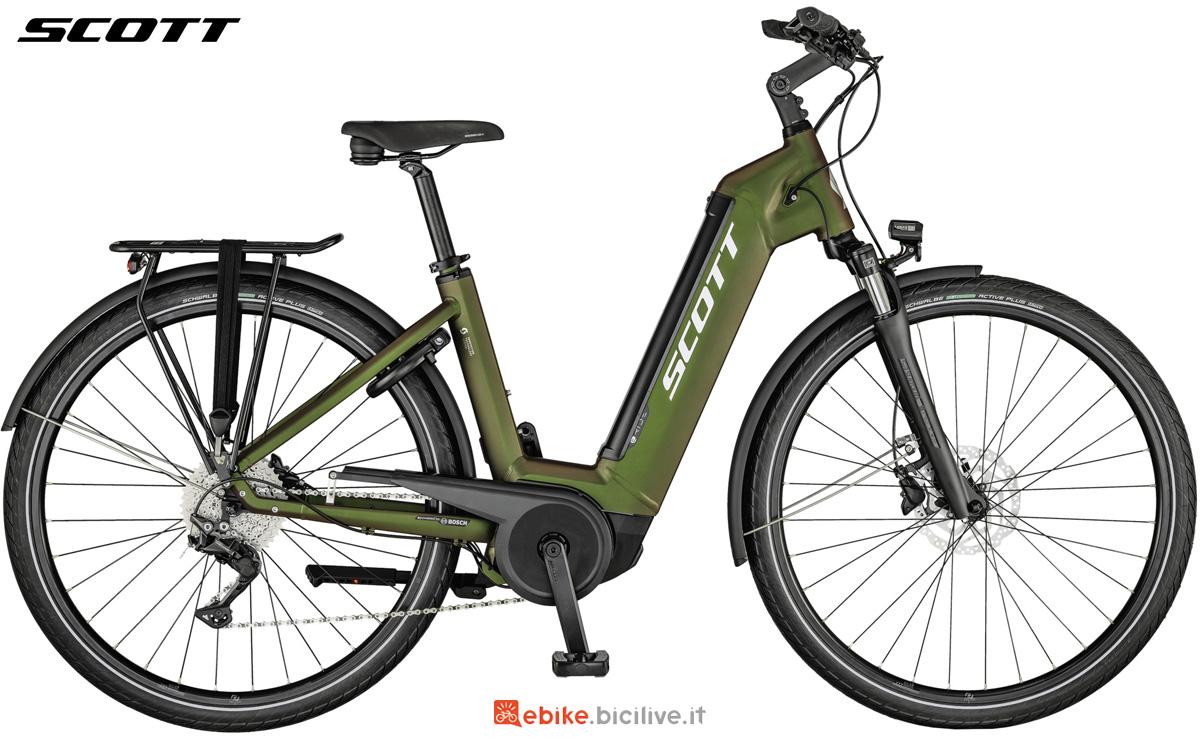Una bicicletta elettrica da città unisex Scott Sub Tour eRide 10 USX
