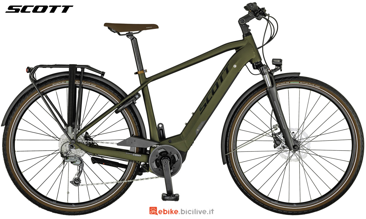Una e-bike Scott Sub Tour eRide 30 MEN da uomo