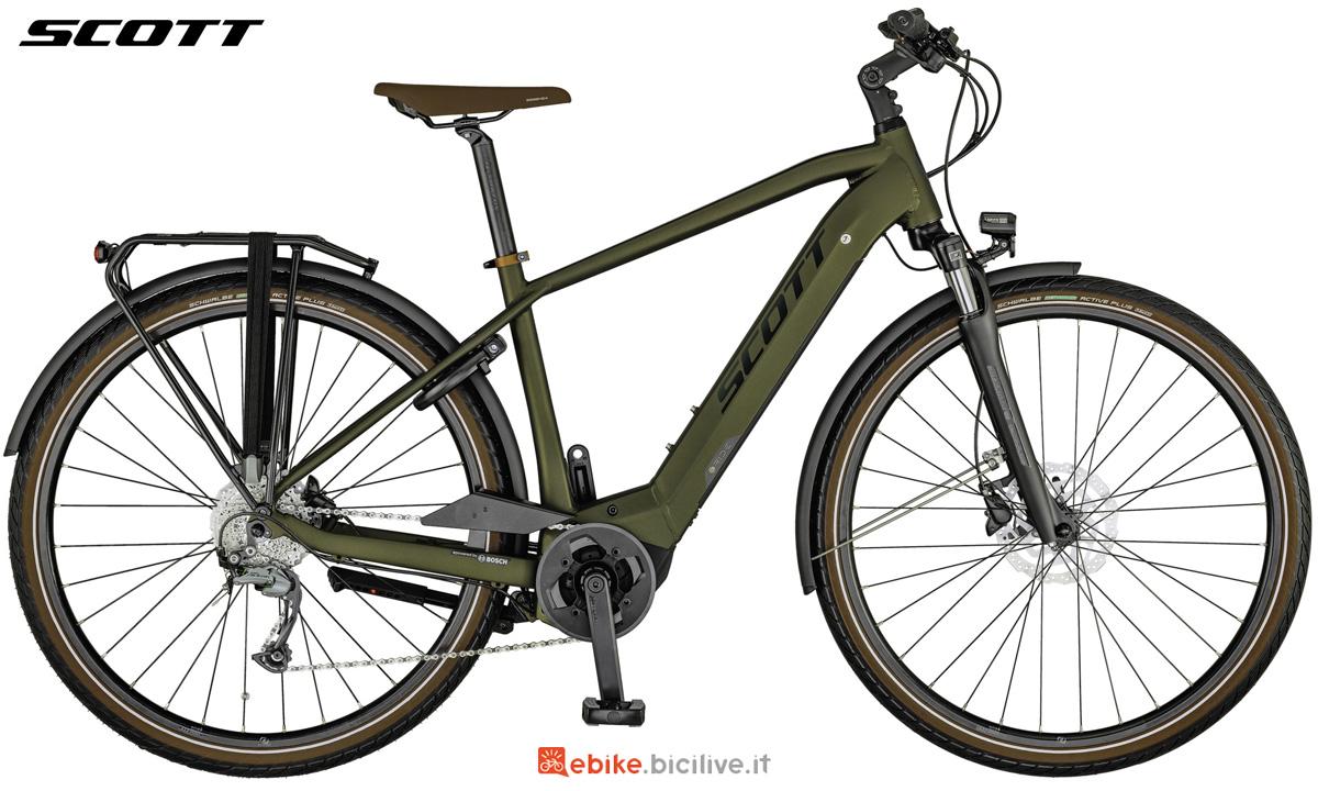 Una e-bike Scott Sub Tour eRide 30 MEN da uomo