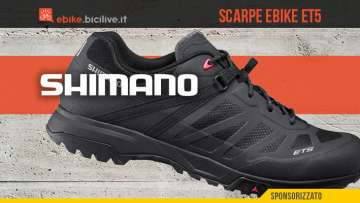 Shimano ET5 2021: scarpe ciclismo uomo donna per ebike