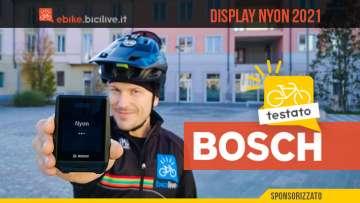 Foto di Claudio Riotti nel test del display Bosch Nyon 2021