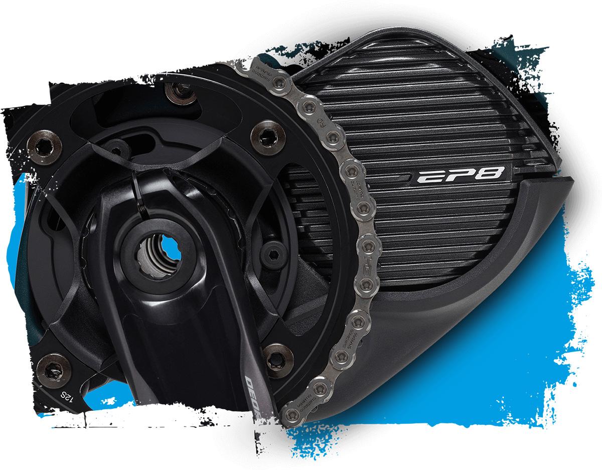 Il motore Shimano EP8 montato su alcuni modelli ebike Brinke 2021