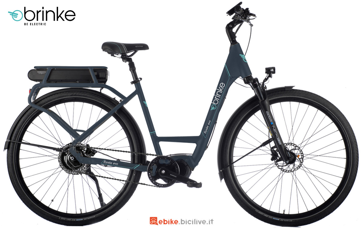 La nuova bici elettrica Brinke Elysee Evo DI2 E6100 2021