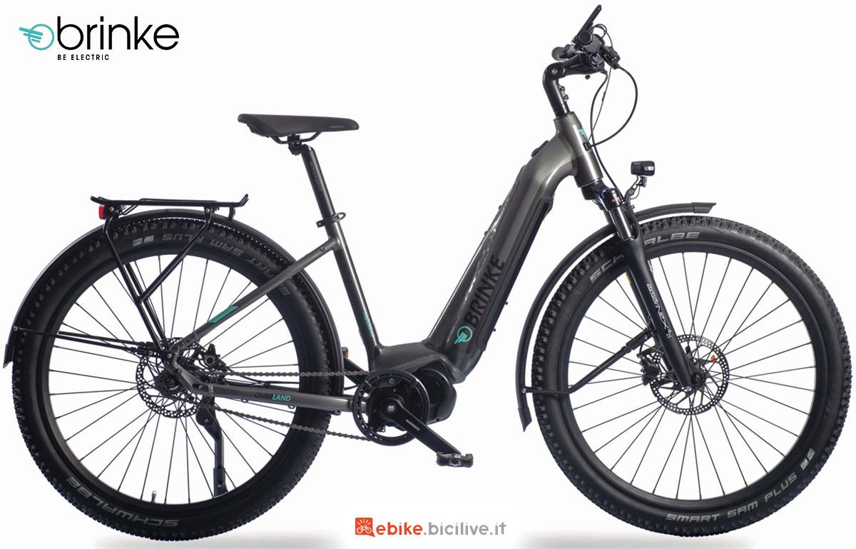 La nuova bici elettrica da trekking Brinke Overland DI2 Comfort E6100 2021
