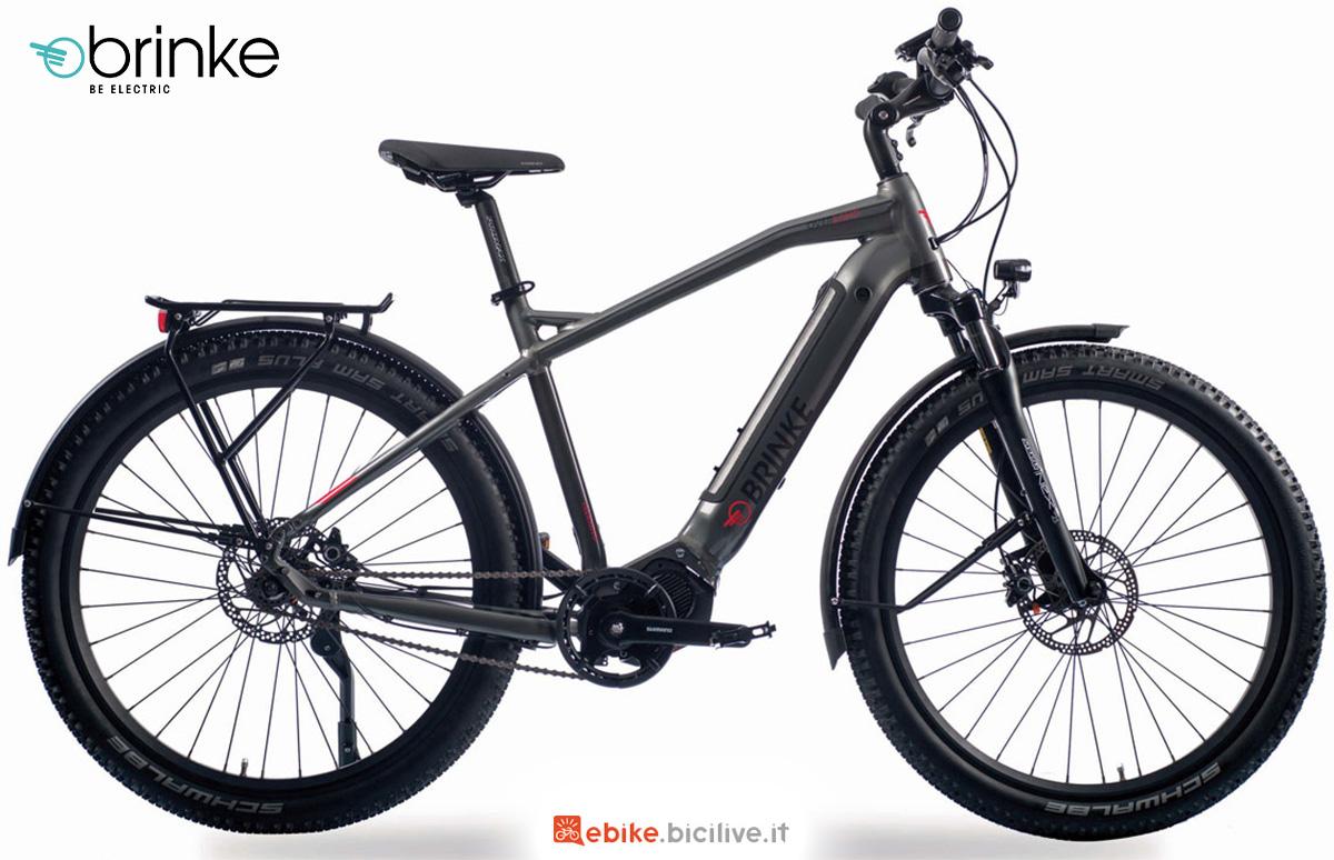 La nuova ebike trekking Brinke Overland DI2 Sport E6100 2021