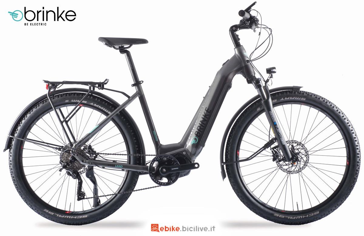 La nuova ebike da trekking con portapacchi e forcella ammortizzata Brinke Overland XT Comfort 2021