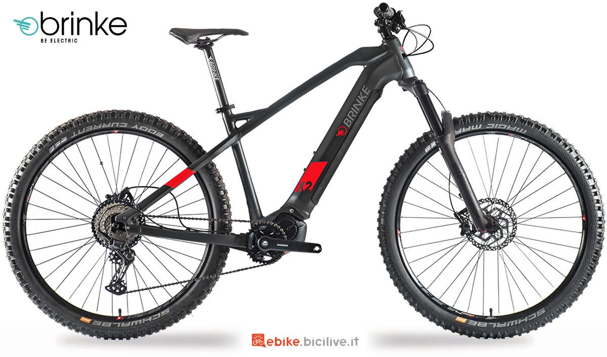 La nuova mountainbike elettrica Brinke X2R 2021