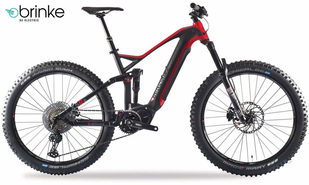 La Brinke X5R+ Race in colorazione nero opaco - rosso lucido