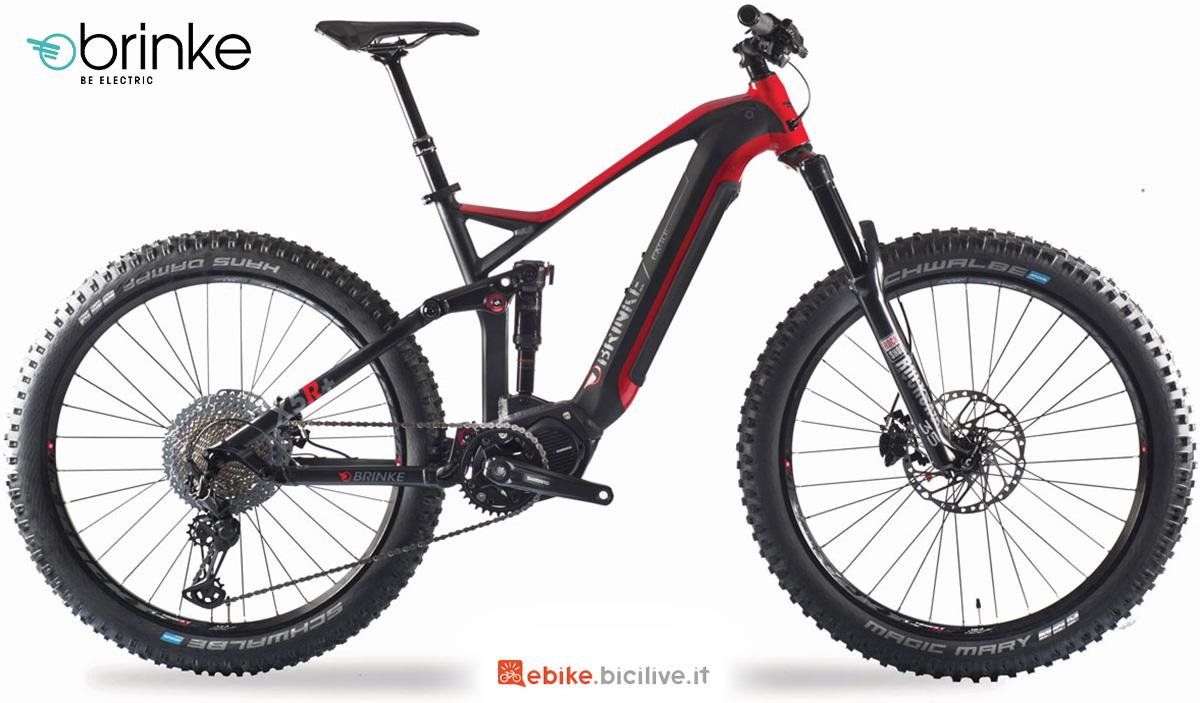 La nuova mtb elettrica Brinke X5R+ 2021