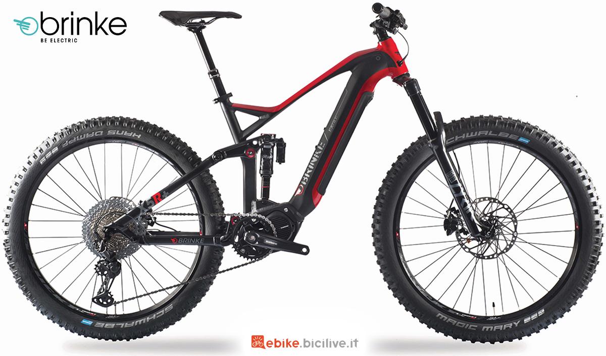 La nuova mtb elettrica Brinke X5R+ Race 2021