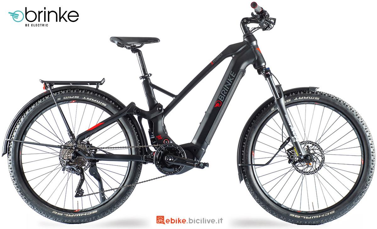 La nuova bici elettrica trekking Brinke  Xplorer E7000 2021