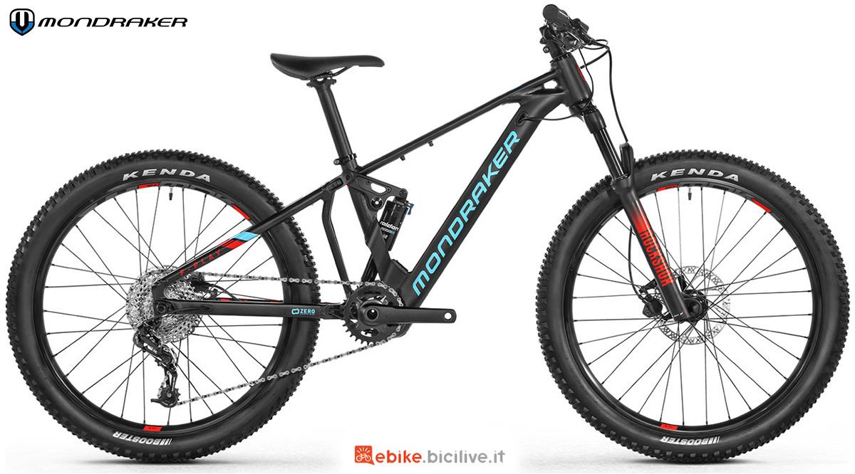 La nuova mountainbike elettrica e biammortizzata per bambini Mondraker F-Play 24 2021