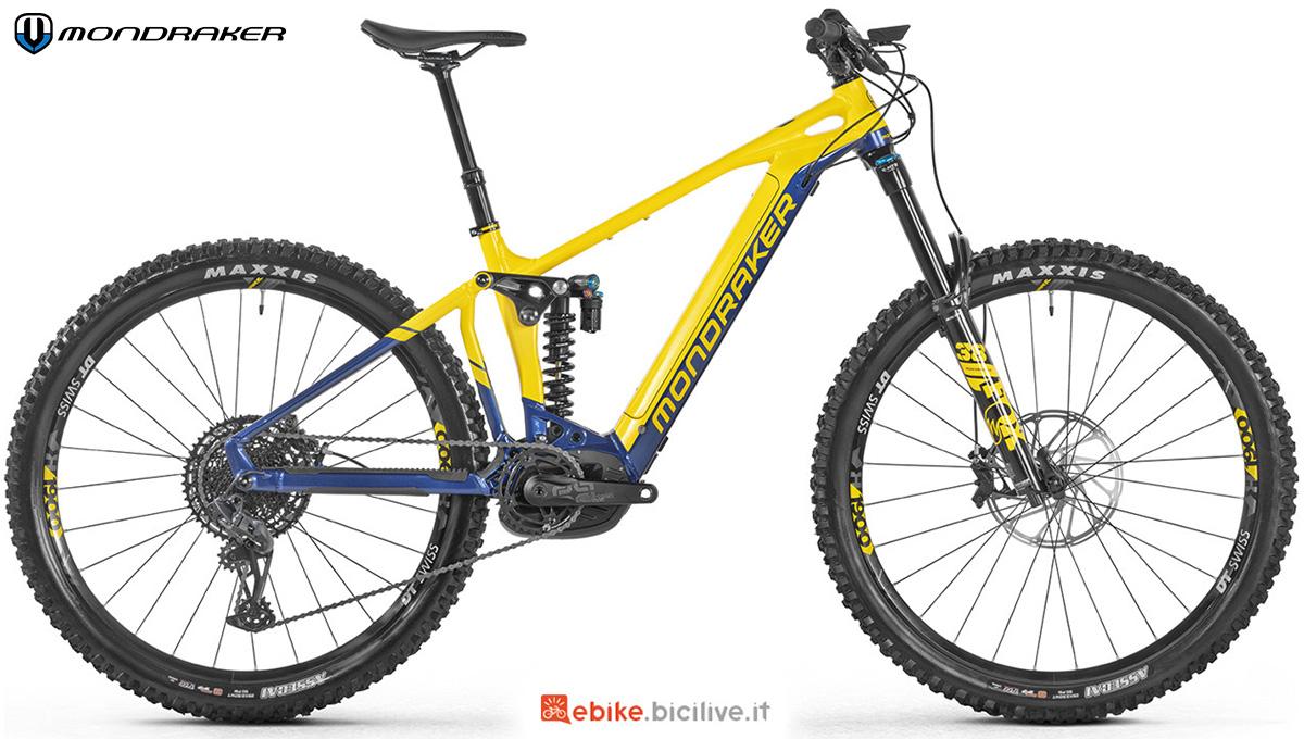 La nuova mountain bike a pedalata assistita e biammortizzata Mondraker Level R 2021
