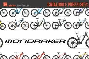 Il catalogo e i prezzi dei nuovi modelli ebike Mondraker 2021